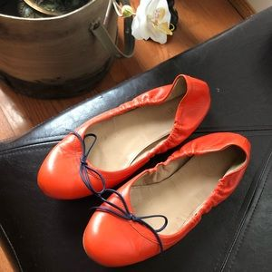 J. CREW Emma bow ballet flats /sun baked orange